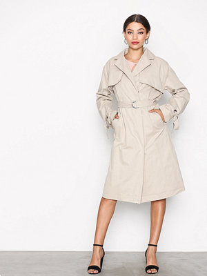 Trenchcoats - Only onlCAMELIA Long Trench Coat Otw Ljus Grå
