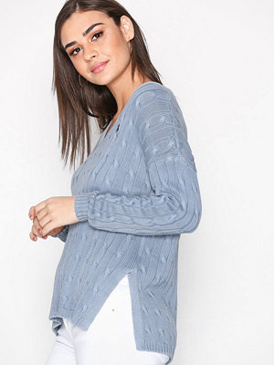 Polo Ralph Lauren Side Slit Sweater Chambray