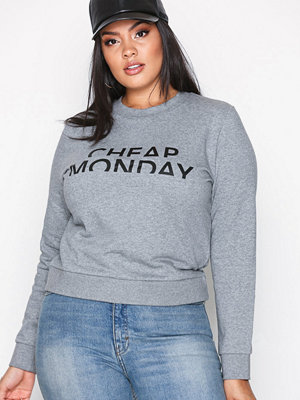 Cheap Monday Win sweat Spliced logo Grey