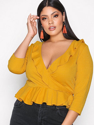 NLY Trend Frill Top Mustard