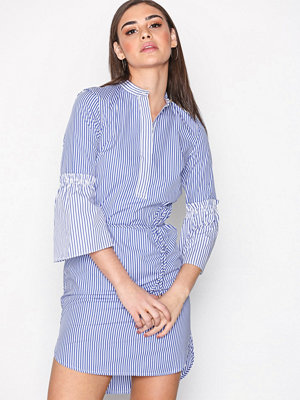 Lauren Ralph Lauren Bozzany-Long Sleeve-Casual Dress Blue