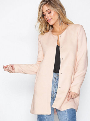 Only onlSIDNEY Light Coat Otw Noos Ljus Rosa