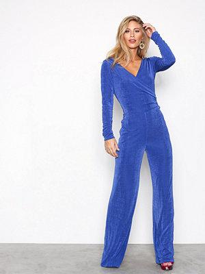 Jumpsuits & playsuits - NLY Trend Glamorous Wrap Jumpsuit Cobolt Blue