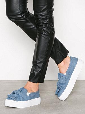 NLY Shoes Twist Platform Sneaker Denim