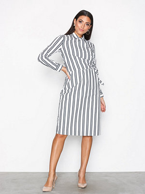 Selected Femme Sfevelyn Ls Shirt Dress Vit