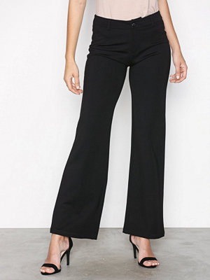 River Island svarta byxor Molly Techno Skinny Trousers Black