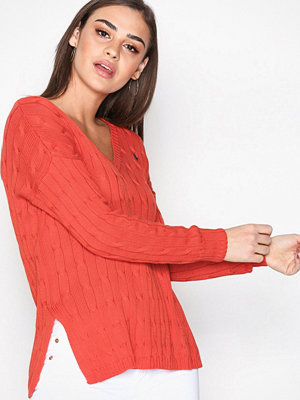 Polo Ralph Lauren Side Slit Sweater Red