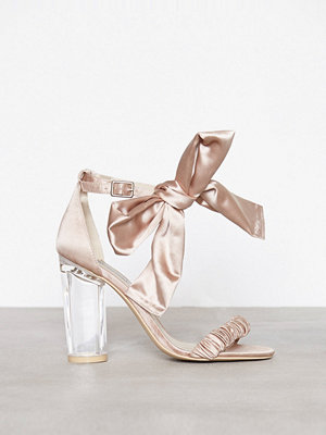 NLY Shoes Bow Heel Sandal Dusty Pink