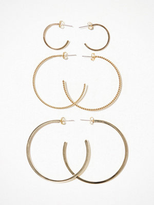 Pieces örhängen Pcmulle Creol Earring Set Guld