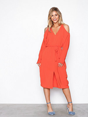 NLY Trend Front Slit Dress Orange