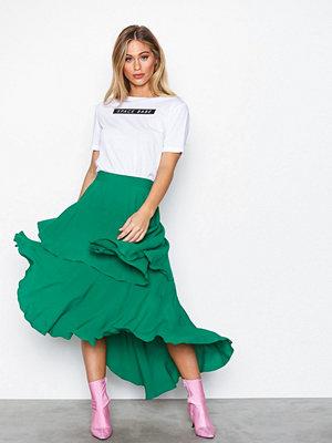NLY Trend Summer Frill Skirt Grön