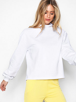 NLY Trend Half Polo Sweat Vit