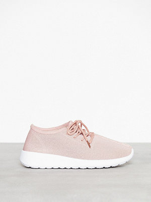 NLY Shoes Knitted Sneaker Dusty Pink