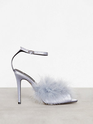 Pumps & klackskor - Topshop Asymmetric Feather Sandal Blue