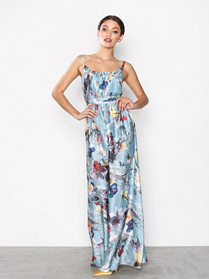 Little Mistress Satin Maxi Dress Multi