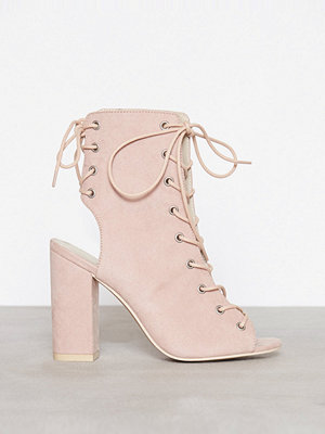 NLY Shoes Lace Up Block Sandal