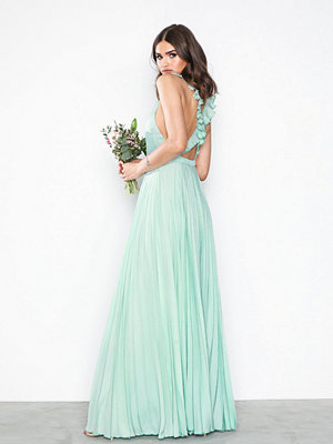 NLY Eve Pleated Frill Gown Mint