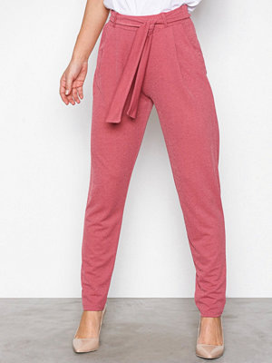 NLY Trend Dressed Tie Pants Rosa byxor