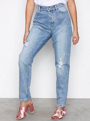 Vero Moda Vmivy Lr Tapered Boyfriend Jeans No Ljus Blå