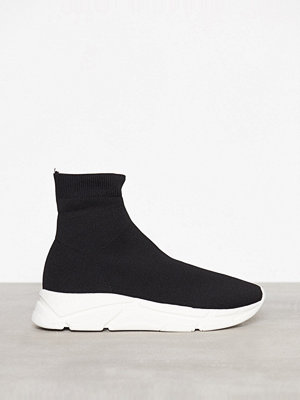River Island Knitted Sock Runner Trainer Black