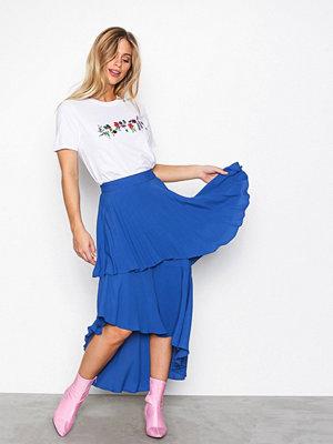 NLY Trend Summer Frill Skirt Blå