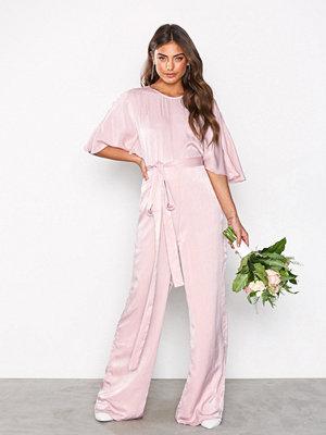 NLY Eve Kimono Sleeve Jumpsuit Rose