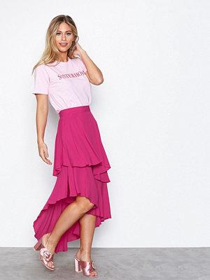 NLY Trend Summer Frill Skirt Rosa
