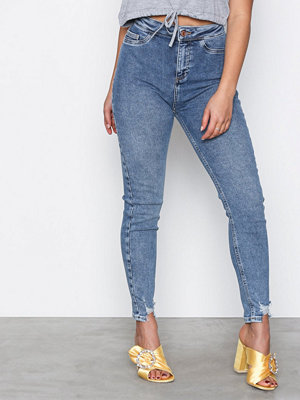 New Look Fray Hem Disco Vanessa Jeans Blue