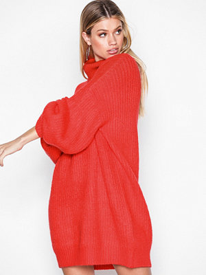 Missguided Roll Neck Oversized Dress Red