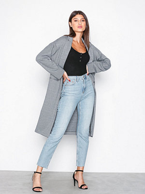 Topshop Jersey Chuck On Coat Grey
