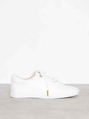 Topshop Cookie Lace Up Trainers White