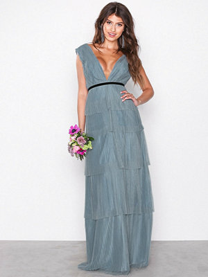 Chi Chi London Adria Maxi Dress Blue