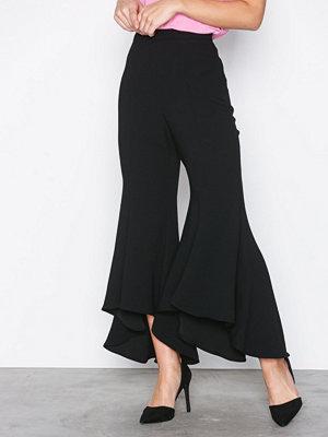 River Island byxor Flare Trousers Black