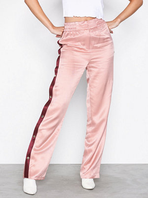Topshop gammelrosa byxor Popper Side Detail Trousers