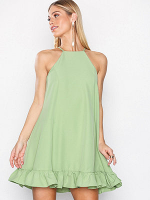 Glamorous Flounce Bottom Dress Green