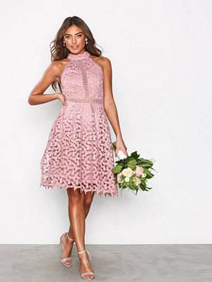 NLY Eve Sportscut Crochet Dress Rose