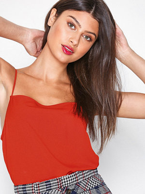 Topshop Square Neck Camisole Top Red