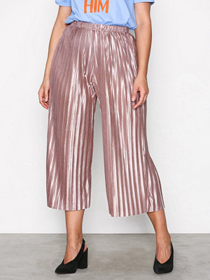 Glamorous omönstrade byxor Pleated Pants Mink