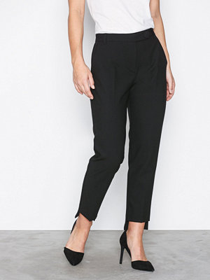 River Island byxor Stepped Hem Cigarette Trouser Black