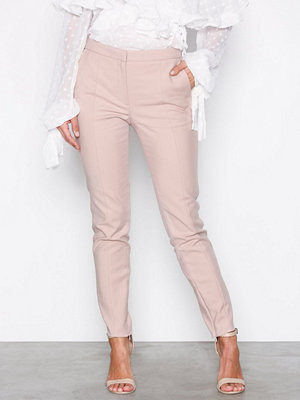 Selected Femme byxor Sfmuse Cropped Mw Pant - Shadow Gra Ljus Grå