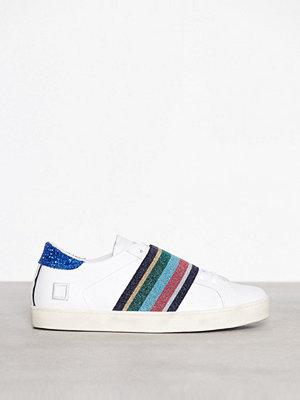 Sneakers & streetskor - D.A.T.E. Sneakers Hill Low Pop Elastic Vit