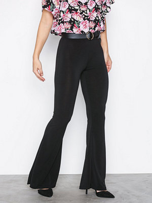 Sisters Point svarta byxor Gro Flare Pants Black