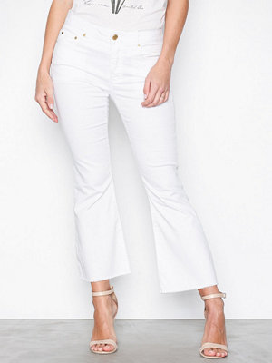 MICHAEL Michael Kors Cropped Kick Dyed Pant White