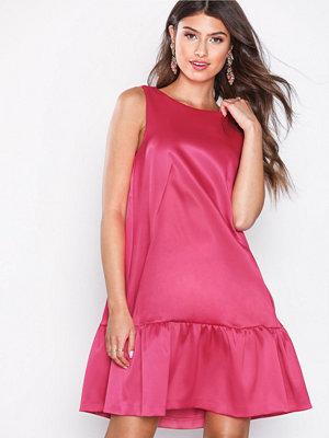 Closet A-Line Gathered Hem Dress Pink