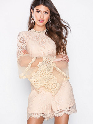 Jumpsuits & playsuits - Love Triangle Victoriana L/S Lace Playsuit Persiko