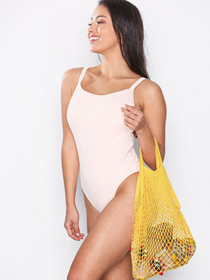 Strandplagg - NLY Beach Fishnet Bag Gul