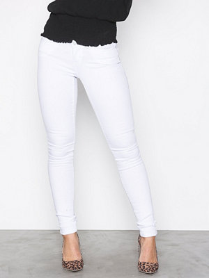 Noisy May Nmeve Lw S.Slim Jeans White GU501 N Vit