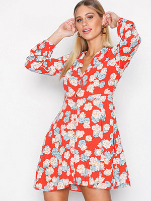 Glamorous Floral Dress Red