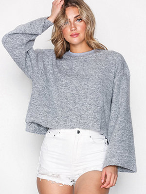 Topshop Cut and Sew Sweat Top Grey