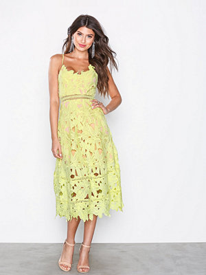 Love Triangle Sunshine On My Mind Midi Tea Dress Citron